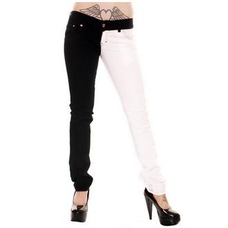 Hlače ženske 3RDAND56th - Split Noga - Crno / Bijela, 3RDAND56th