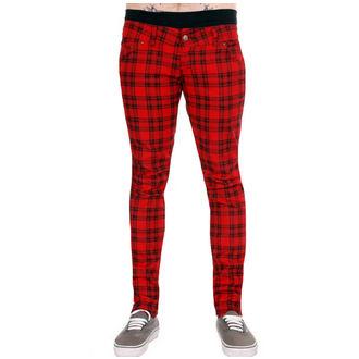 hlače (unisex) 3RDAND56th - Checked - Crno / Crvena, 3RDAND56th