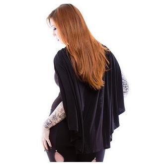 hoodie (ogrtač) ženski NECESSARY EVIL - Gothic Dunne - Crno, NECESSARY EVIL