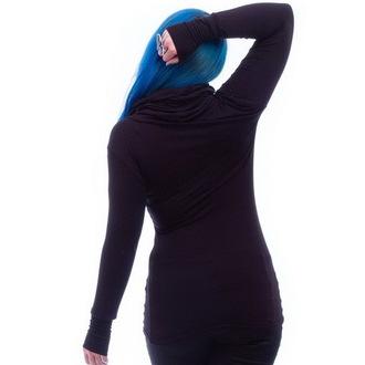 Majica ženska dugi rukav NECESSARY EVIL - Gothic Dunne - Crno, NECESSARY EVIL