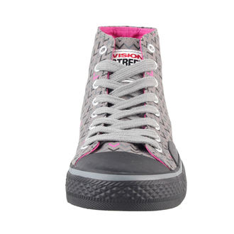 Čizme ženske VISION - Platno HI - Siva / Pink, VISION