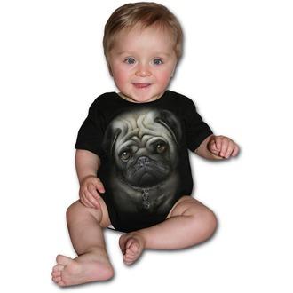 Dječji bodi SPIRAL - Pug Life - Crno, SPIRAL
