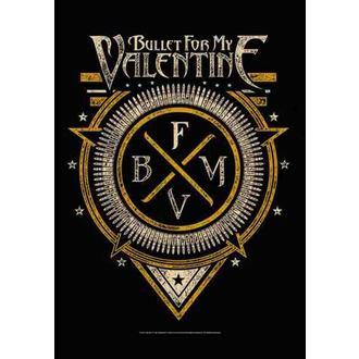zastava Bullet For My Valentine - Emblem, HEART ROCK, Bullet For my Valentine