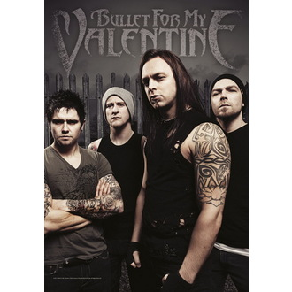 zastava Bullet For My Valentine - Band Photo, HEART ROCK, Bullet For my Valentine