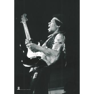 zastava Jimi Hendrix - B. & W.Guitar, HEART ROCK, Jimi Hendrix