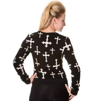 džemper ženski BANNED - Crno, BANNED