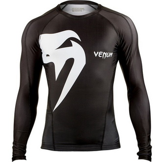 Majica muška dugi rukav (termo) VENUM - Giant Rashguard - Crno, VENUM