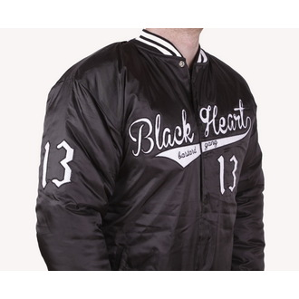Zimska jakna muška (bejzbol jakna) BLACK HEART - BHB - Crno, BLACK HEART