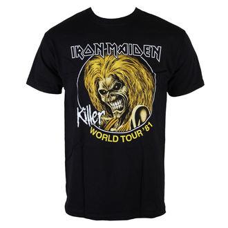 Majica muška Iron Maiden - Killers World Tour 81 - Crno - ROCK OFF, ROCK OFF, Iron Maiden