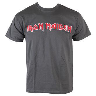 Majica muška Iron Maiden - Classic Logo - Sivo - ROCK OFF, ROCK OFF, Iron Maiden