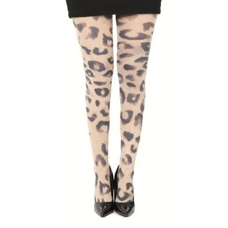 Najlonke PAMELA MANN - Big Leopard Printed - Natural, PAMELA MANN