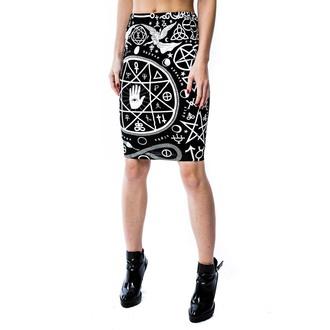 suknja ženska KILLSTAR - Cult Pencil - Crno - KIL087