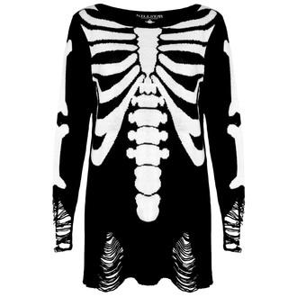 džemper (unisex) KILLSTAR - Skeletor - Crno, KILLSTAR