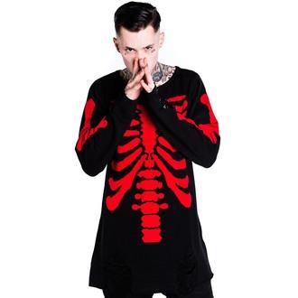 džemper (unisex) KILLSTAR - Skeletor - Crven, KILLSTAR
