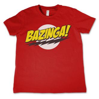 Majica dječja Big Bang Theory - Bazinga Super Logo - Crven - HYBRIS, HYBRIS