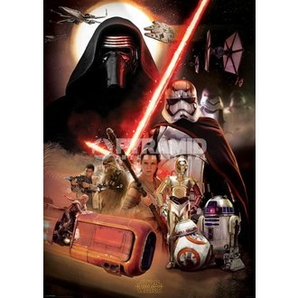 plakat Star Wars - Episode VII (Montage) - PYRAMID POSTERS, PYRAMID POSTERS