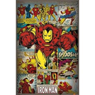plakat Marvel Comics - Iron Man Retro - PYRAMID POSTERS, PYRAMID POSTERS