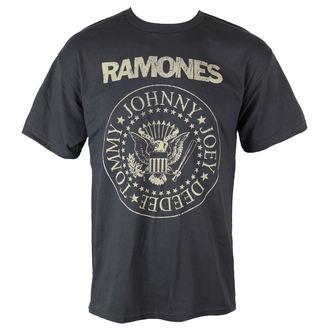 Majica muška Ramones - Distress Crest - Char - BRAVADO, BRAVADO, Ramones