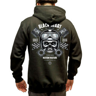 hoodie muški BLACK HEART - Piston Skull - Crno, BLACK HEART