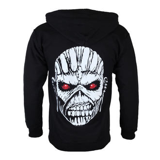 hoodie muški Iron Maiden - Eddie Axe White - Crno - ROCK OFF, ROCK OFF, Iron Maiden