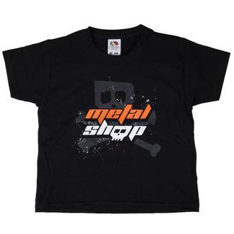 Majica djeca Metalshop - Crno, METALSHOP