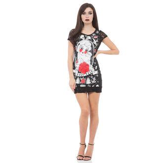 Haljina ženska JAWBREAKER - Black / Red Ruža, JAWBREAKER