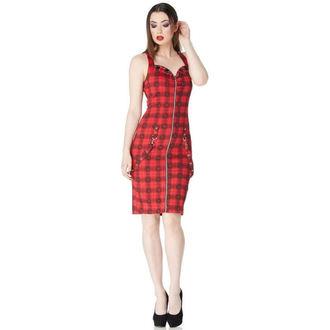 Haljina ženska VOODOO VIXEN - BLK / Red Pokrivač Lubanje, JAWBREAKER