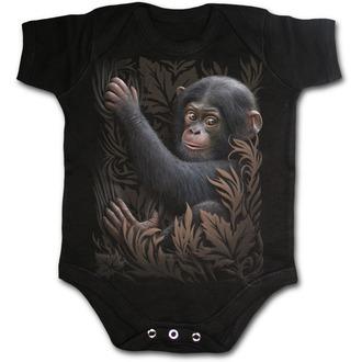 Dječji bodi SPIRAL - Monkey Business - Crno, SPIRAL