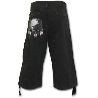 Kratke hlače muške 3/4 SPIRAL - Vuk Chi - Crno, SPIRAL