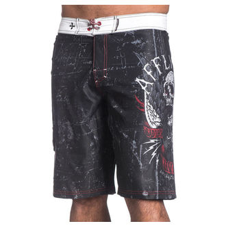 Kupaći kostim muški (kratke hlače) AFFLICTION - Wild Wing - BK, AFFLICTION