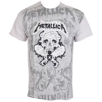 Majica muška Metallica - Pushead Poster All Over - Ice Grey, NNM, Metallica