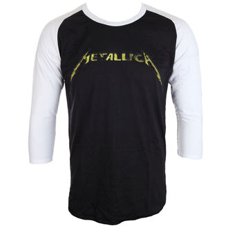 Majica s 3/4 rukavima muška Metallica - Justice Black/White Baseball - ATMOSPHERE, NNM, Metallica