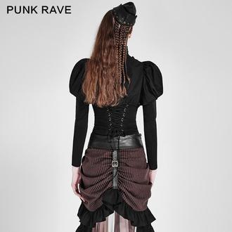 Ženska košulja PUNK RAVE - Queen of hearts - Black, PUNK RAVE