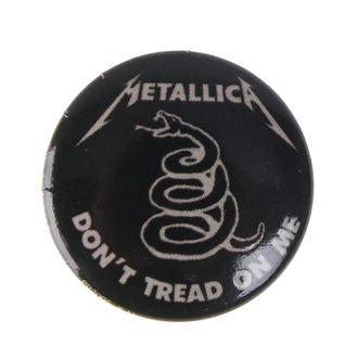 Bedž Metallica - DON'T TREAD ON ME - BIOWORLD, BIOWORLD, Metallica