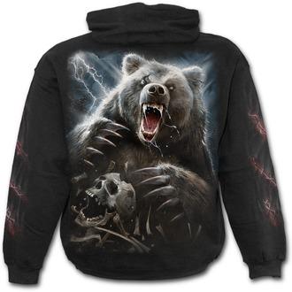 Muška majica s kapuljačom SPIRAL - BEAR CLAWS - Black