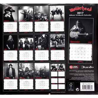 Kalendar za 2017 Motörhead, Motörhead
