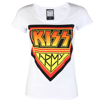 Majica metal Kiss - DISTRESSED ARMY WHITE - AMPLIFIED, AMPLIFIED, Kiss