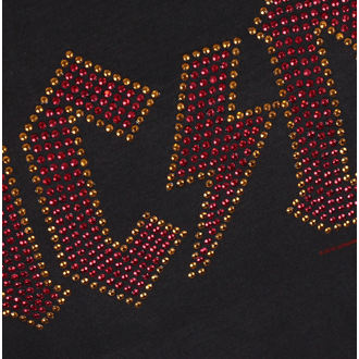 Ženska majica AC-DC LOGO CHARCOAL RED AMPLIFIED AV601ACS, AMPLIFIED, AC-DC