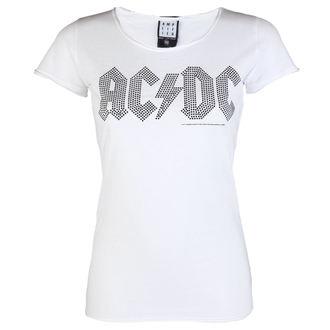 Ženska majica AC-DC LOGO WHITE BLACK AMPLIFIED AV601ALB, AMPLIFIED, AC-DC