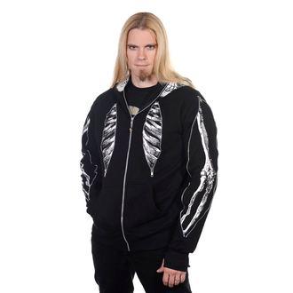 Majica s kapuljačom muška Skeleton Bone BANNED HBN010R/BLK, BANNED