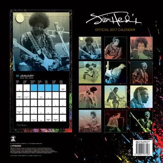 Kalendar Jimi Hendrix 2017, PYRAMID POSTERS, Jimi Hendrix
