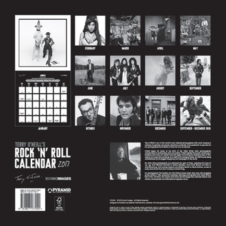 Kalendar Terry O'Neill's Rock 'n' Roll 2017, PYRAMID POSTERS