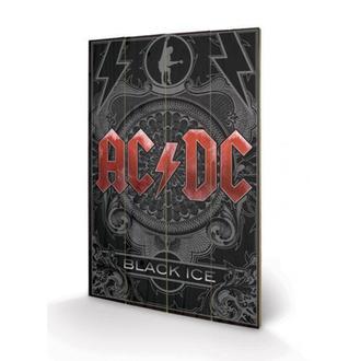 Drvena slika AC / DC - Black Ice, PYRAMID POSTERS, AC-DC