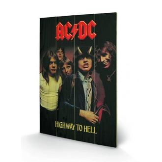 Drvena slika AC / DC - Highway to Hell, PYRAMID POSTERS, AC-DC