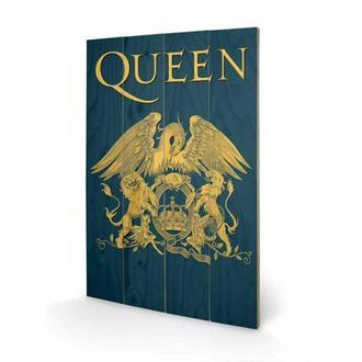 Drvena slika Queen - Crest, PYRAMID POSTERS, Queen
