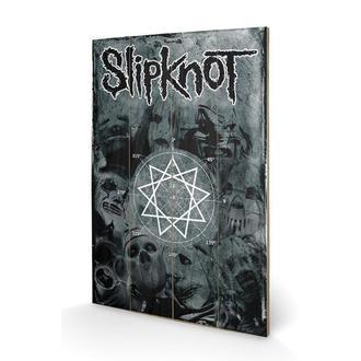 Drvena slika Slipknot - Pentagram, PYRAMID POSTERS, Slipknot