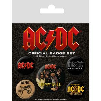 Bedževi AC / DC (Logo), PYRAMID POSTERS, AC-DC