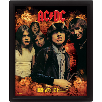3D slika AC / DC - Highway to Hell, PYRAMID POSTERS, AC-DC