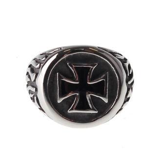 Prsten ETNOX - Black Iron Cross, ETNOX