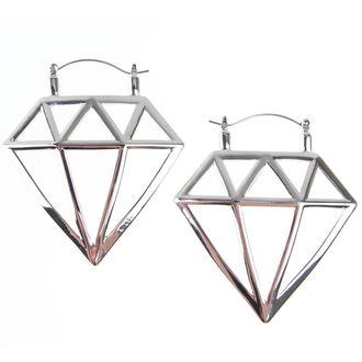 Naušnice INOX - 20G DIAMOND, INOX